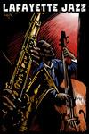 Lafayette, Louisiana - Lafayette Jazz - Jazz Band - Scratchboard - Lantern Press Artwork