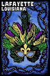 Lafayette, Louisiana - Mardi Gras - Scratchboard - Lantern Press Artwork
